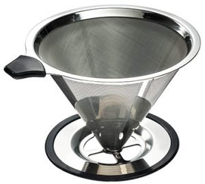 Yitelle Stainless Steel Pour Over Coffee Dripper