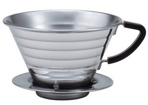 Kalita Stainless Steel Wave 185 Coffee Dripper